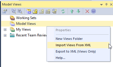 Model Views - Import Views